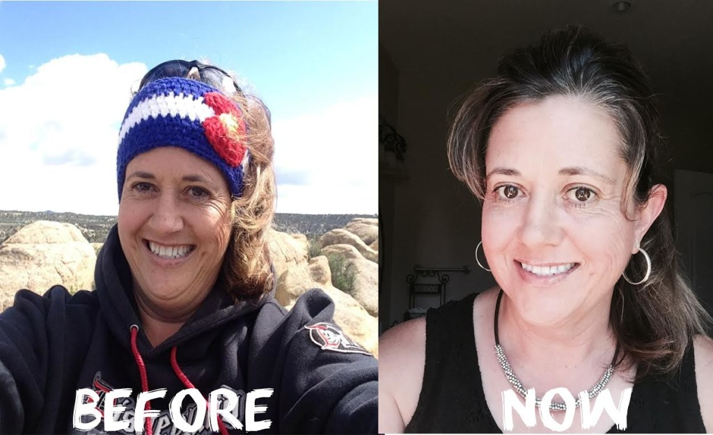Cheryl before after pic-Road To Living whole