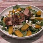 Roasted fennel and beet salad with pork tenderloin