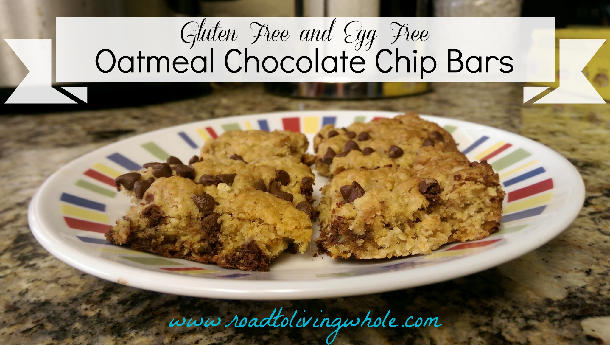 Gluten Free, Egg Free Oatmeal Chocolate Chip Bars - Road to Living ...