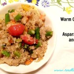 Warm Quinoa Salad with Asparagus, Carrots, and Tomatoes