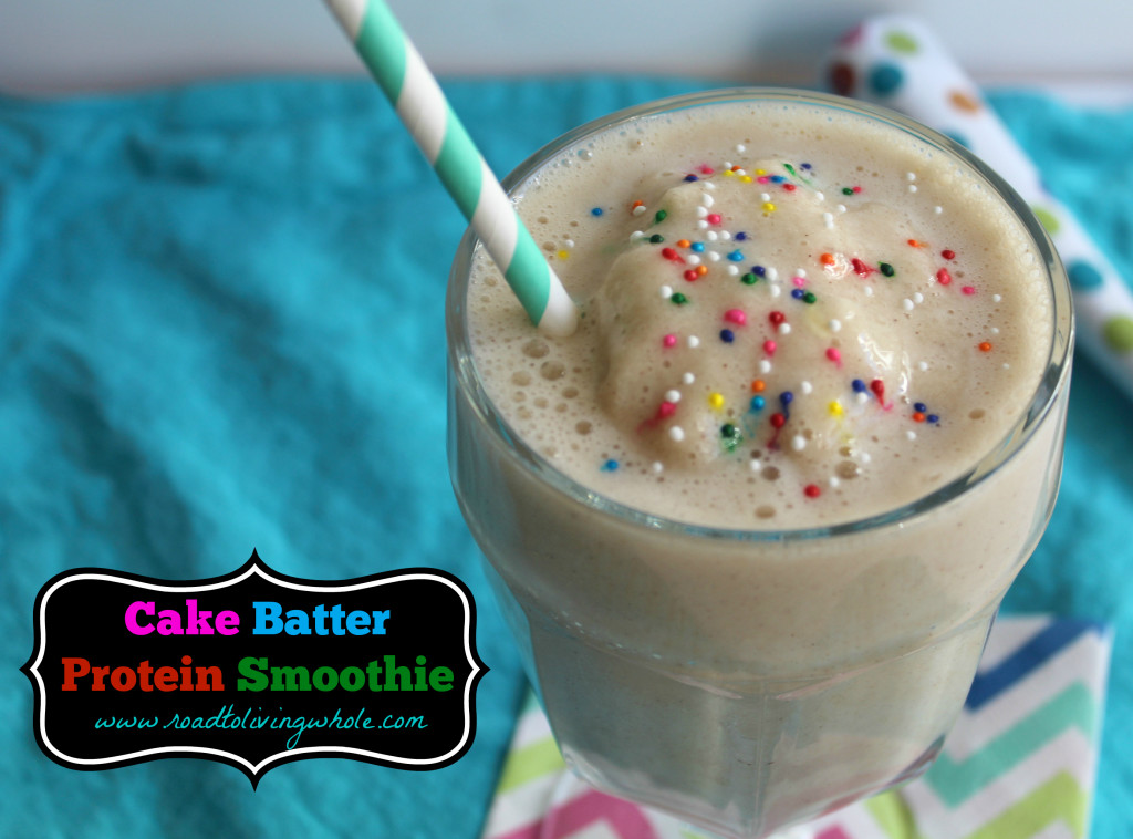 Cake Batter Protein Smoothie