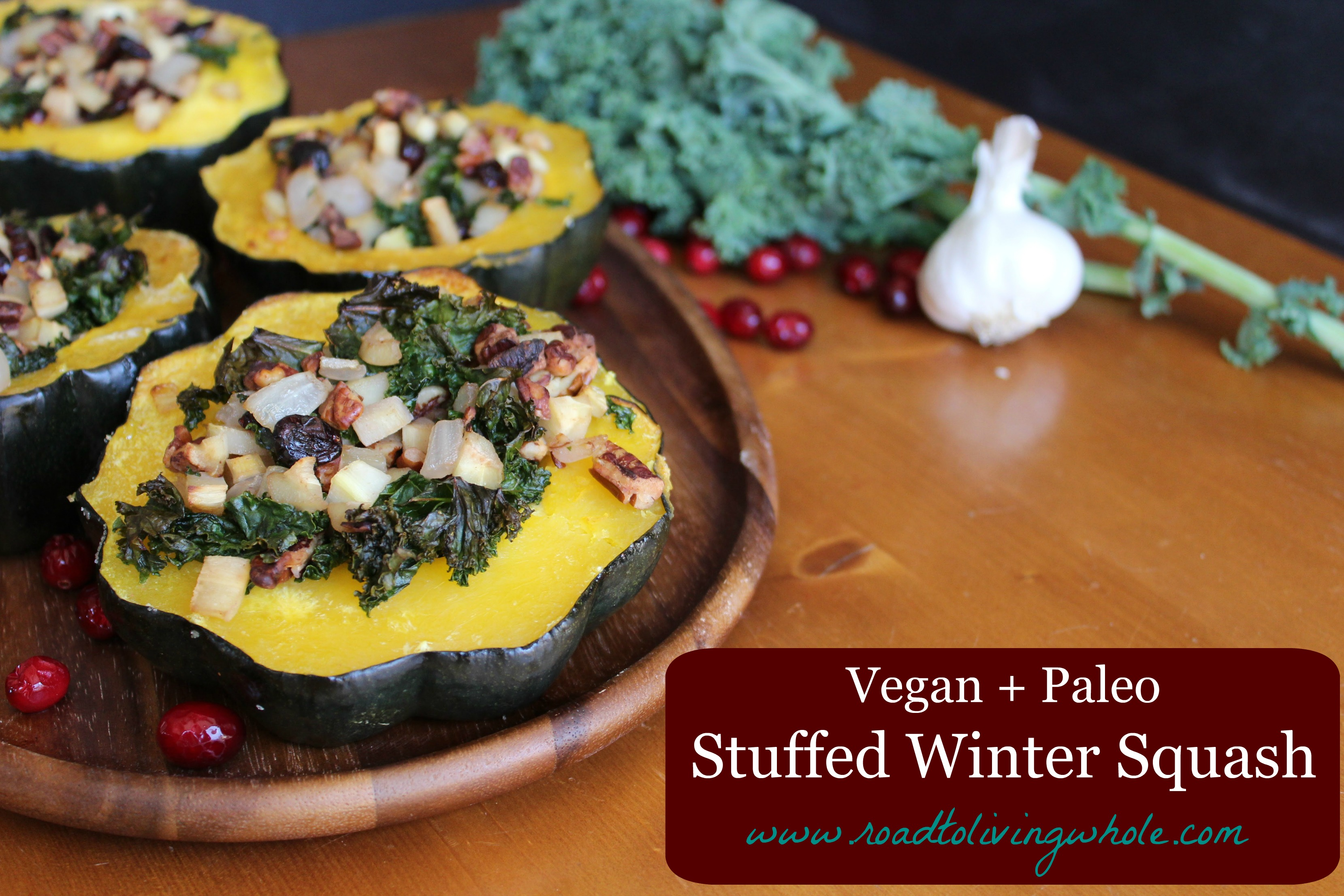 vegan paleo winter stuffed squash