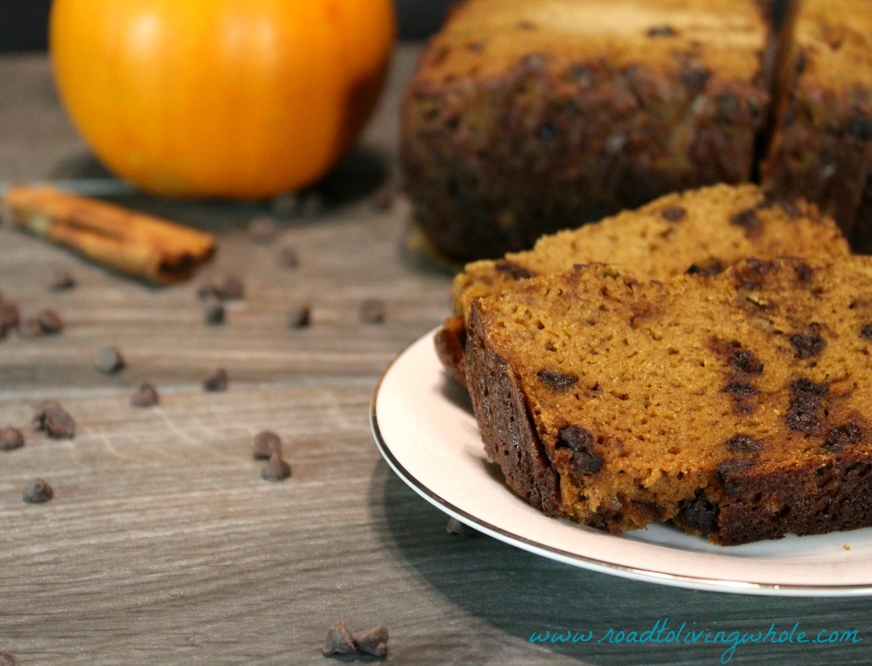 Paleo Chocolate Chip Pumpkin Bread - Road to Living Whole