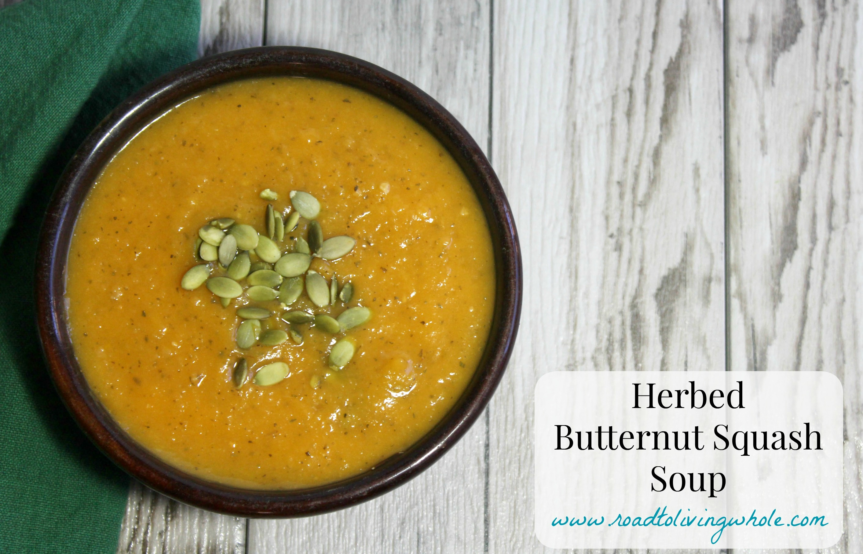 Herbed butternut squash soup
