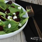 Arugula Salad with Beets, Goat Cheese, And Pepitas