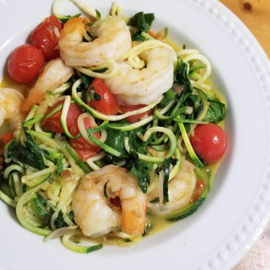 Garlic Butter Shrimp Zoodles