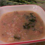 Creamy Dairy Free Potato Sausage Kale Soup