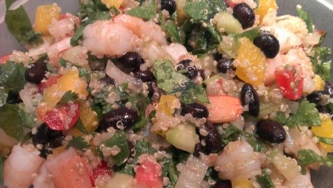 Quinoa Shrimp Fiesta Salad