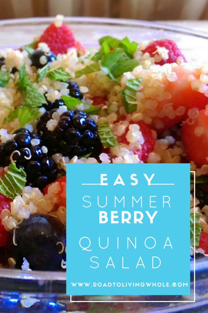 summer berry quinoa salad