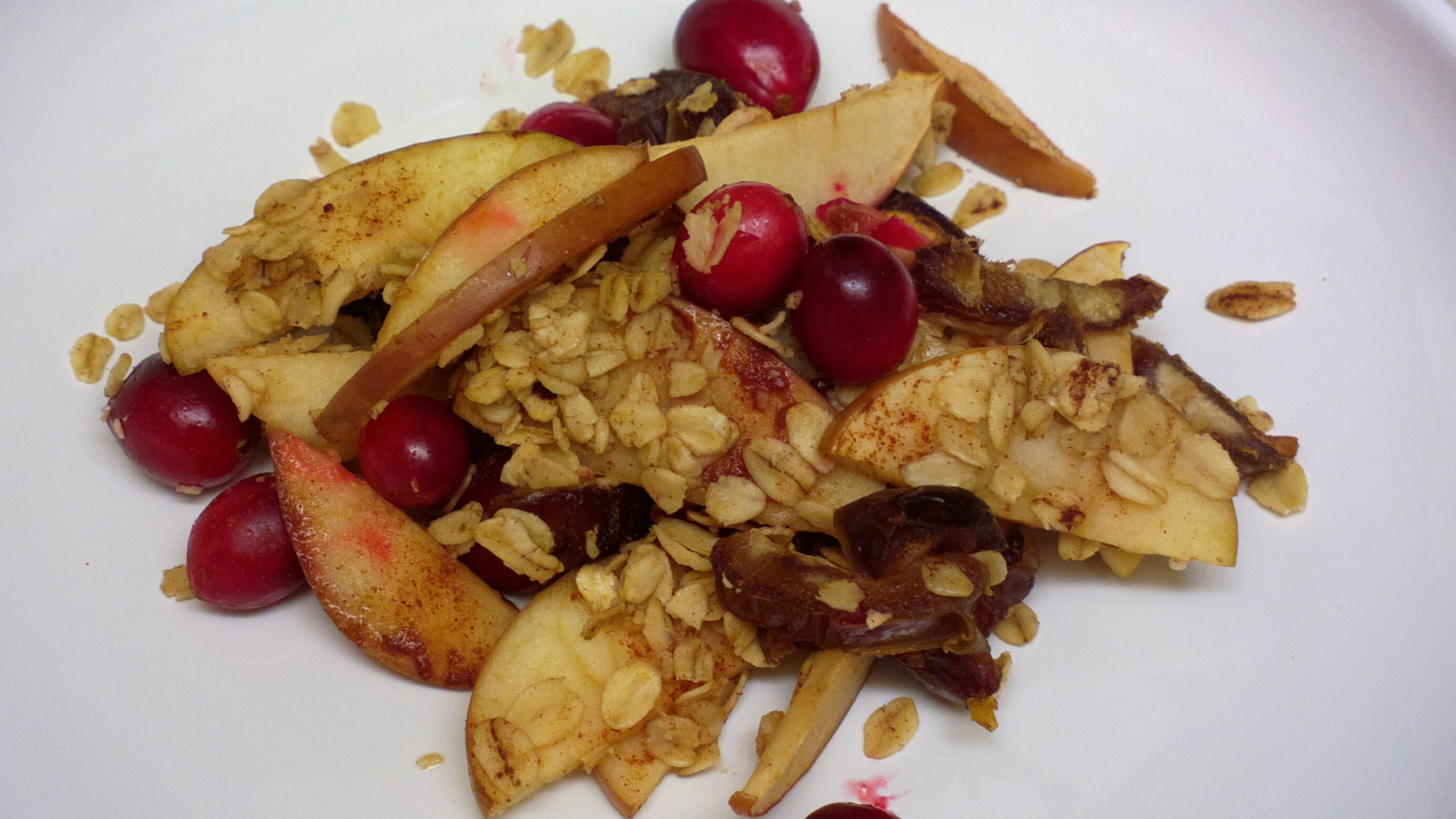 Gluten Free Cranberry Apple Crumble