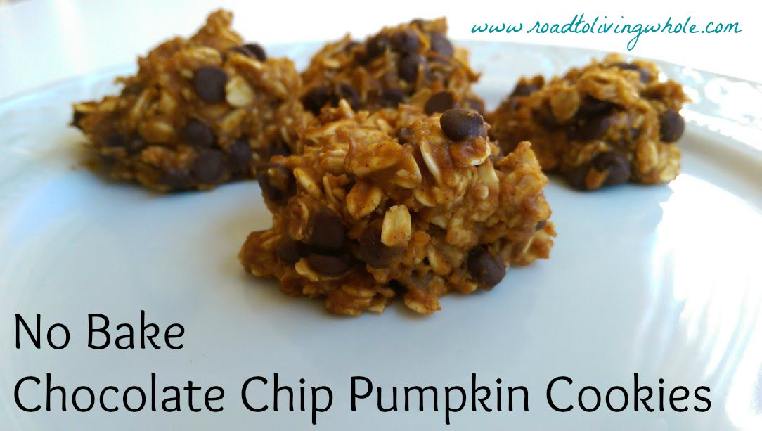 no bake oatmeal chocolate chip pumpkin cookies