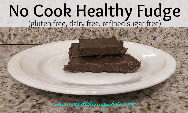 no cook healthy chocolate fudge video
