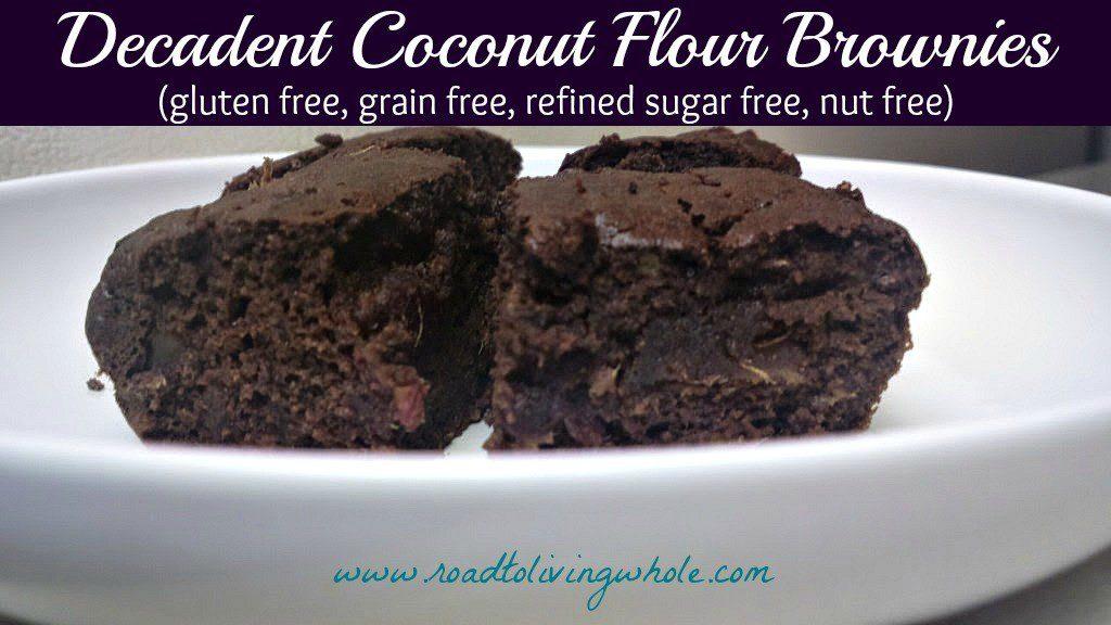 grain free paleo coconut flour brownies