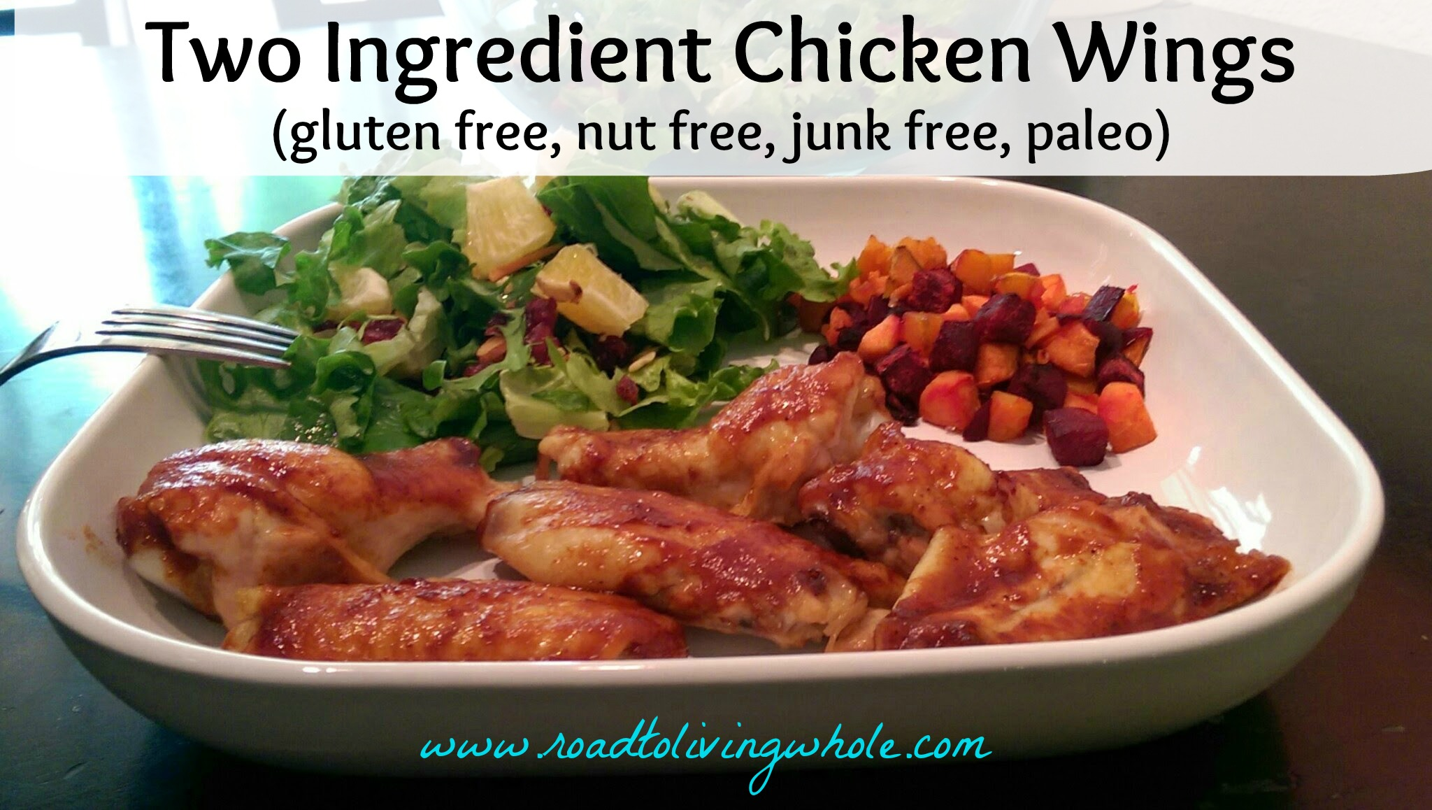 gluten free 2 ingredient easiest chicken wings ever