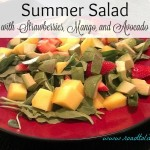 Summer Salad with Strawberries Mango And Avocado