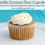 vanilla coconut flour cupcake