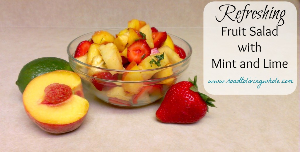 fruit salad with mint and lime