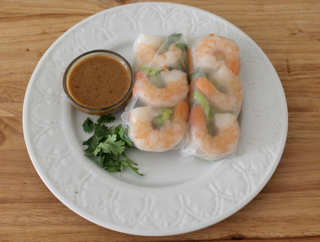 shrimp spring rolls with sunbutter dipping sauce 2