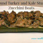 Ground Turkey and Kale Stuffed Zucchini Boats