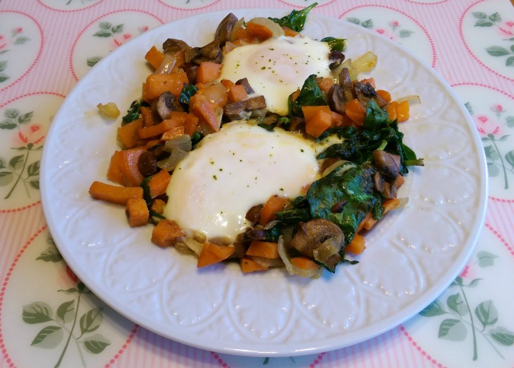 sweet potato egg skillet