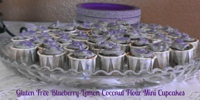 gluten free blueberry lemon cupcakes
