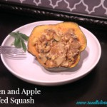 gluten free chicken and apple stuffed squash
