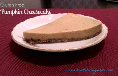 dairy free grain free paleo pumpkin cheesecake
