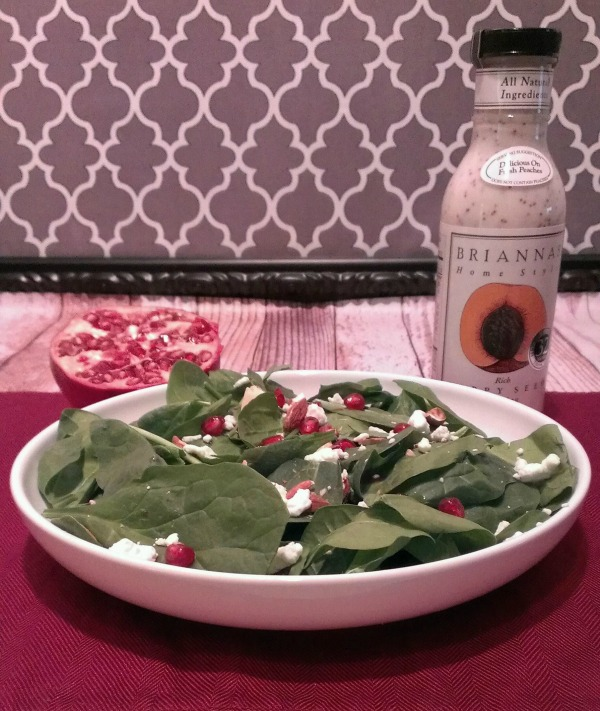 pomegranate spinach almond salad gluten free