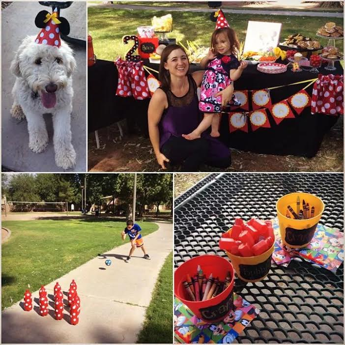 A Gluten Free, Minnie Mouse Themed 2 Year Old's Birthday Party