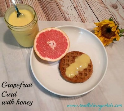 grapefruit curd with honey paleo