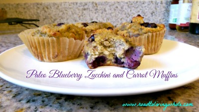 paleo blueberry zucchini carrot muffin