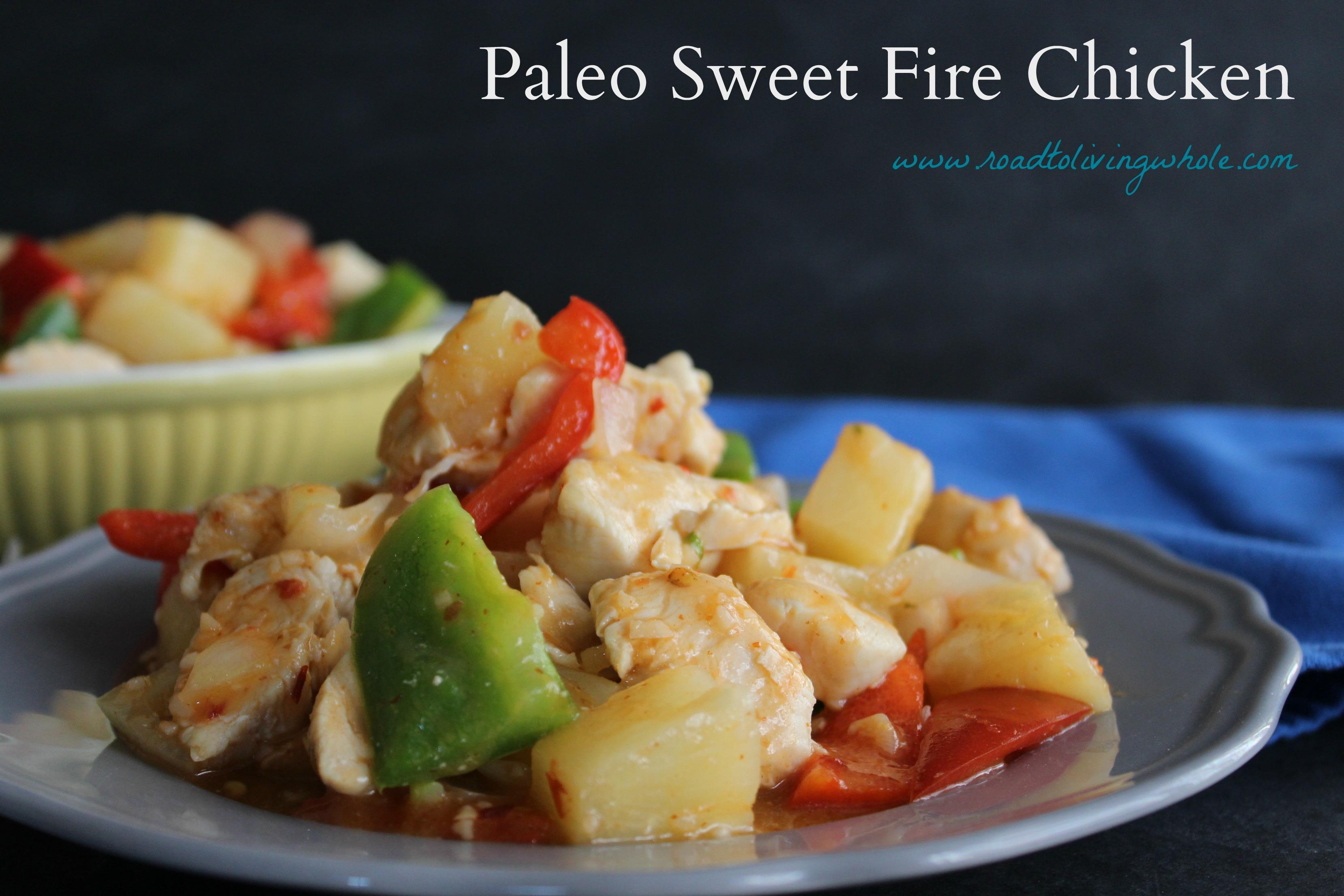 paleo sweet fire chicken
