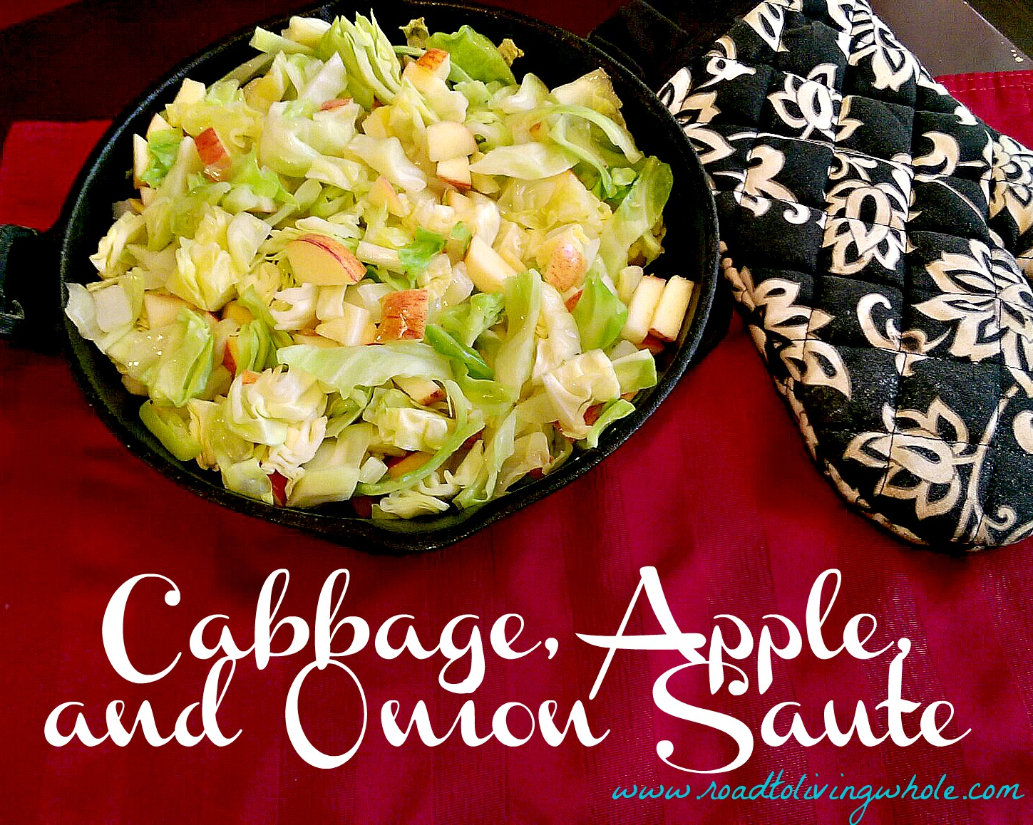 paleo gluten free grain free cabbage apple onion saute