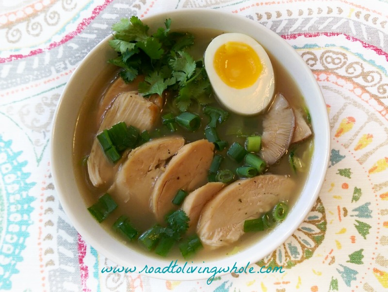 paleo chicken ramen bowl 1