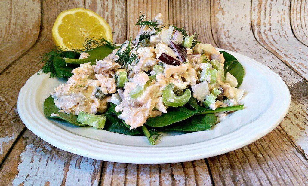 lemony dill salmon salad 2