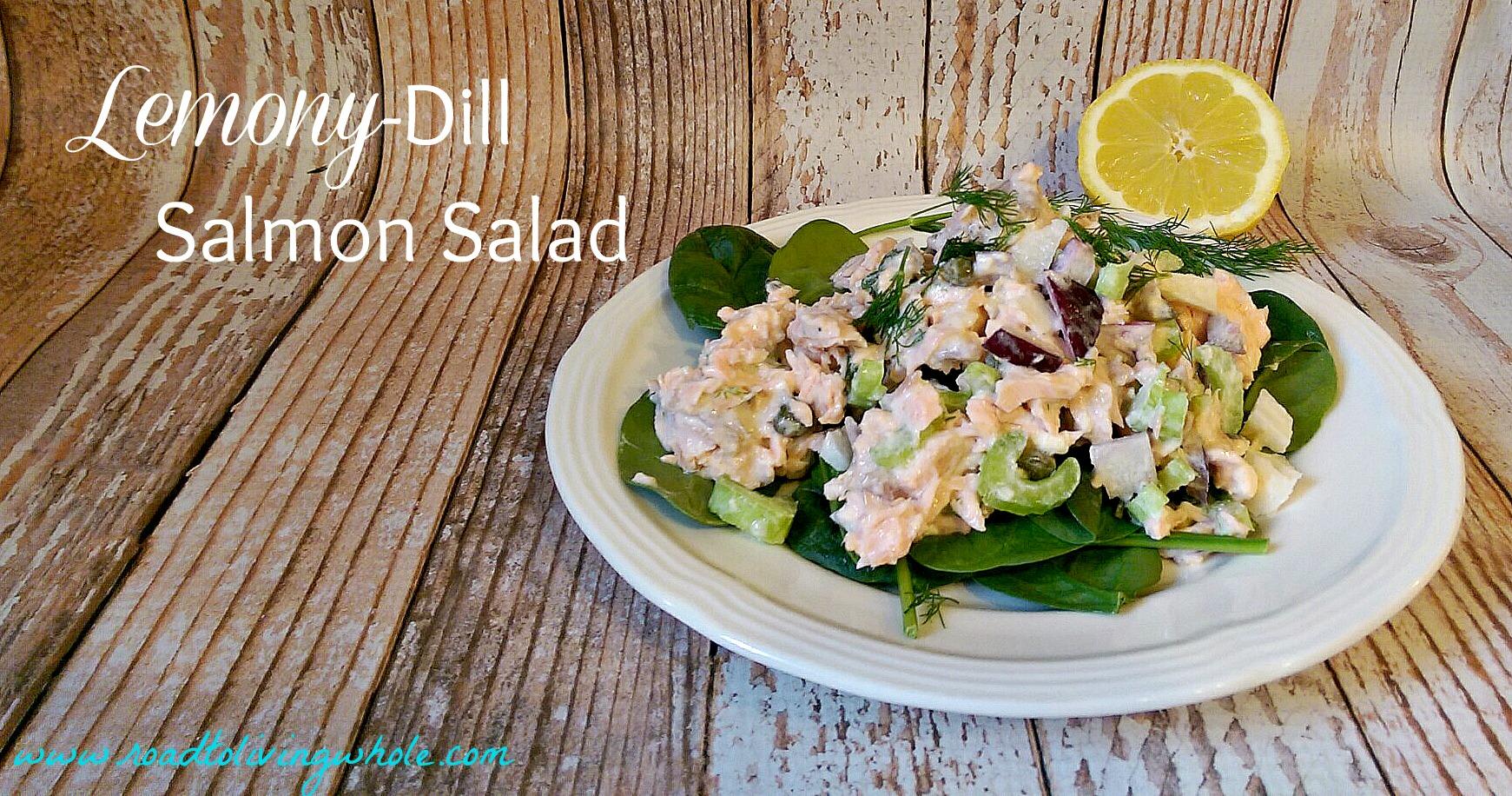 gluten free paleo grain free lemon dill salmon salad