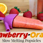 Slow Melting Strawberry Orange Popsicles