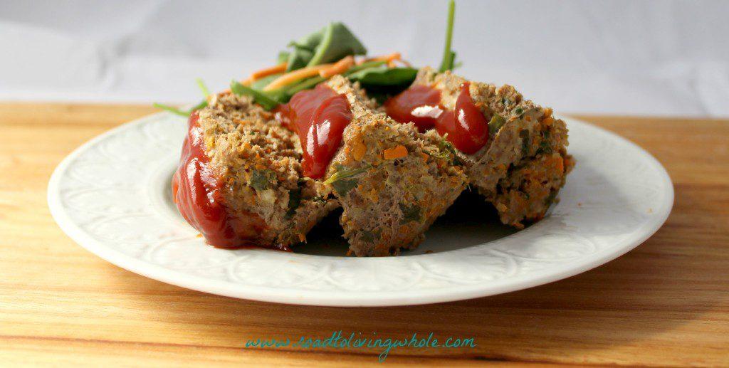 easy paleo veggie stuffed meatloaf