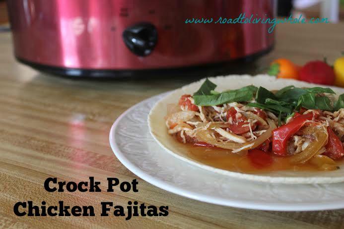 paleo crockpot chicken fajitas