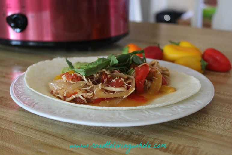 gluten free crockpot chicken fajitas