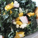 kale and acorn squash salad