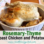 rosemary thyme roast chicken and potatoes