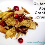 gluten free apple cranberry crumble