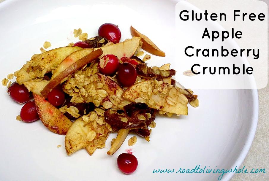 gluten free apple cranberry crumble
