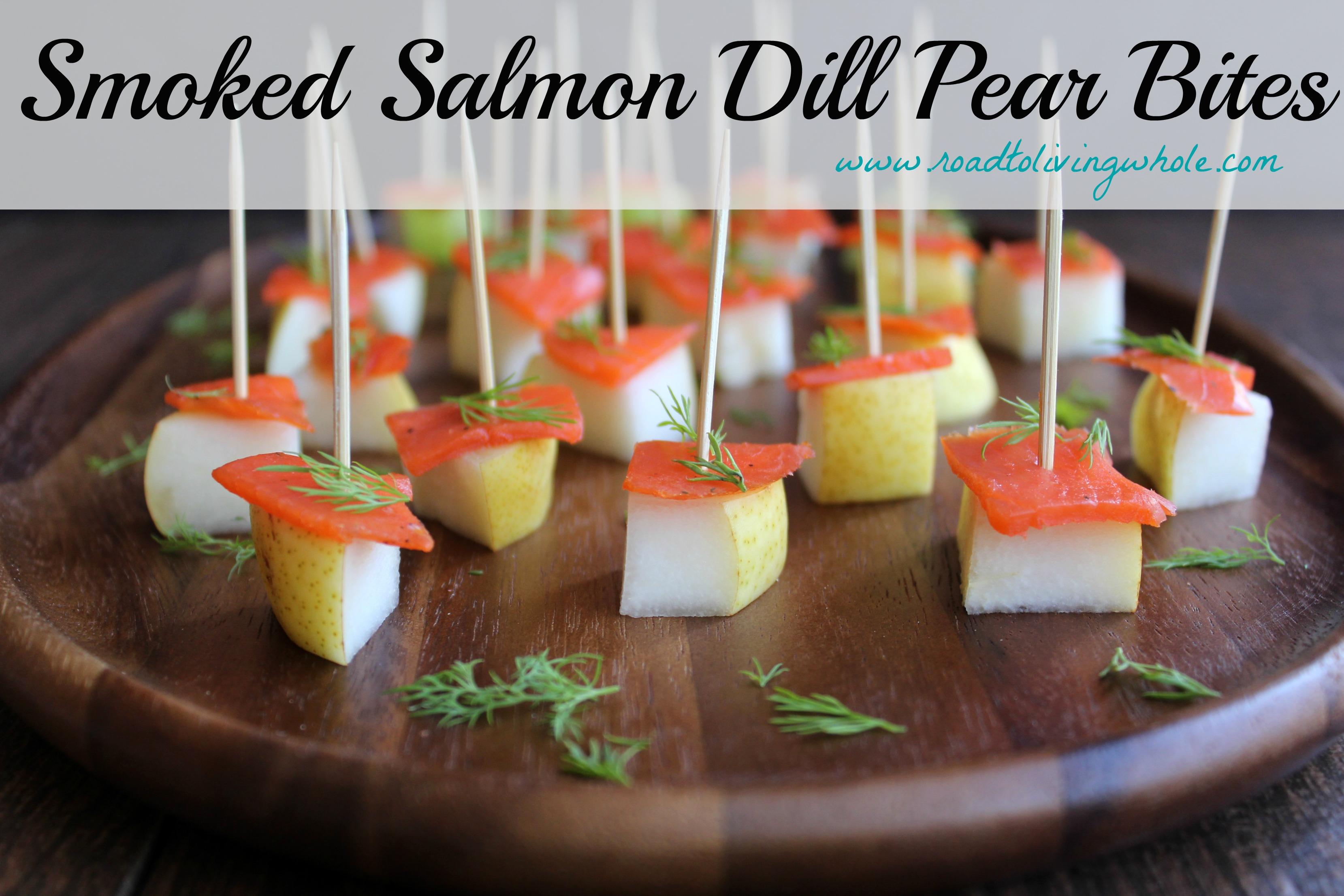 salmon dill pear bites