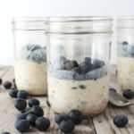 overnight honey nut muesli with blueberries