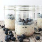 overnight honey nut muesli with blueberries
