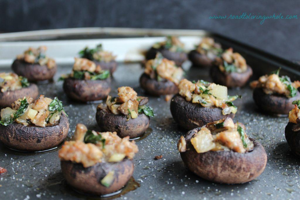 paleo sausage stuffed mushrooms