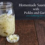 sauerkraut with pickles and garlic