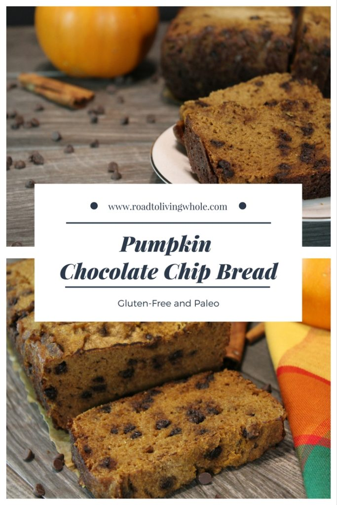 paleo pumpkin chocolate chip bread